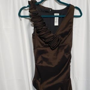Cache Ruffle Bodycon Midi Dress
